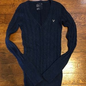 XS AE Navy sweater